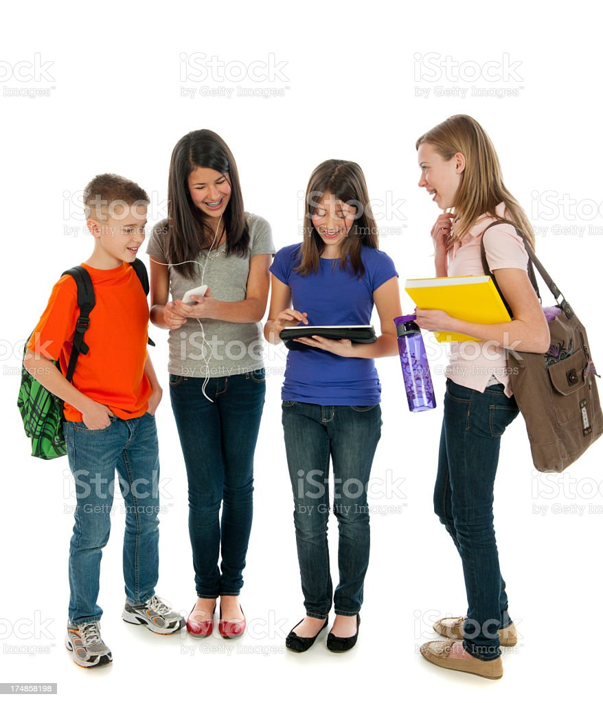 Diverse Group of Elementary Students royalty-free stock photo