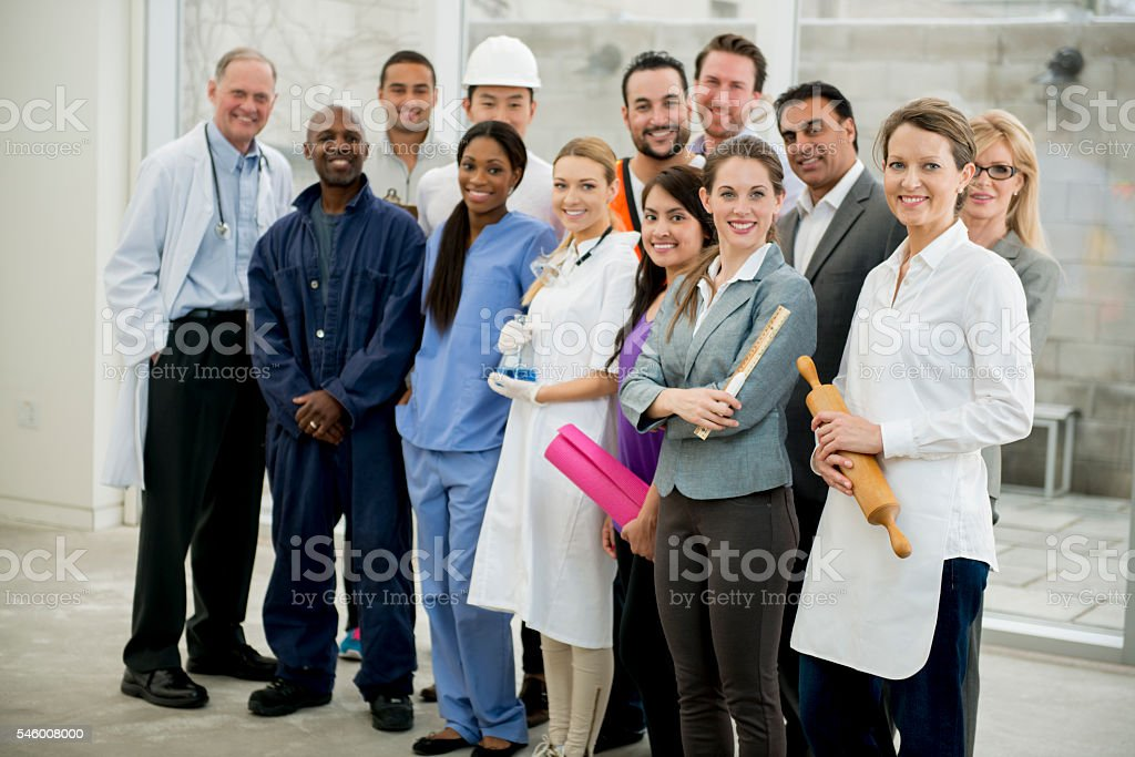 Diverse Group of Employees stock photo