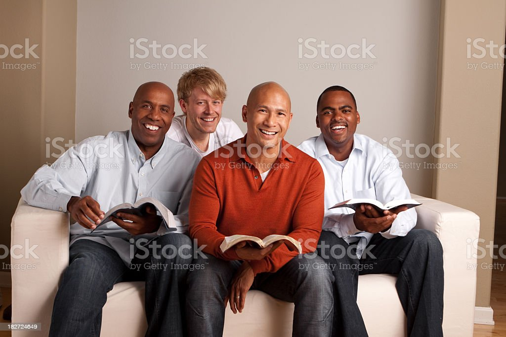 Diverse Group of Men Reading royalty-free stock photo