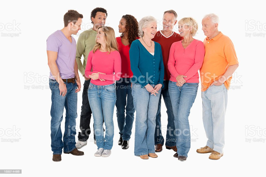 Diverse Group of People in Casual Wear - Isolated stock photo