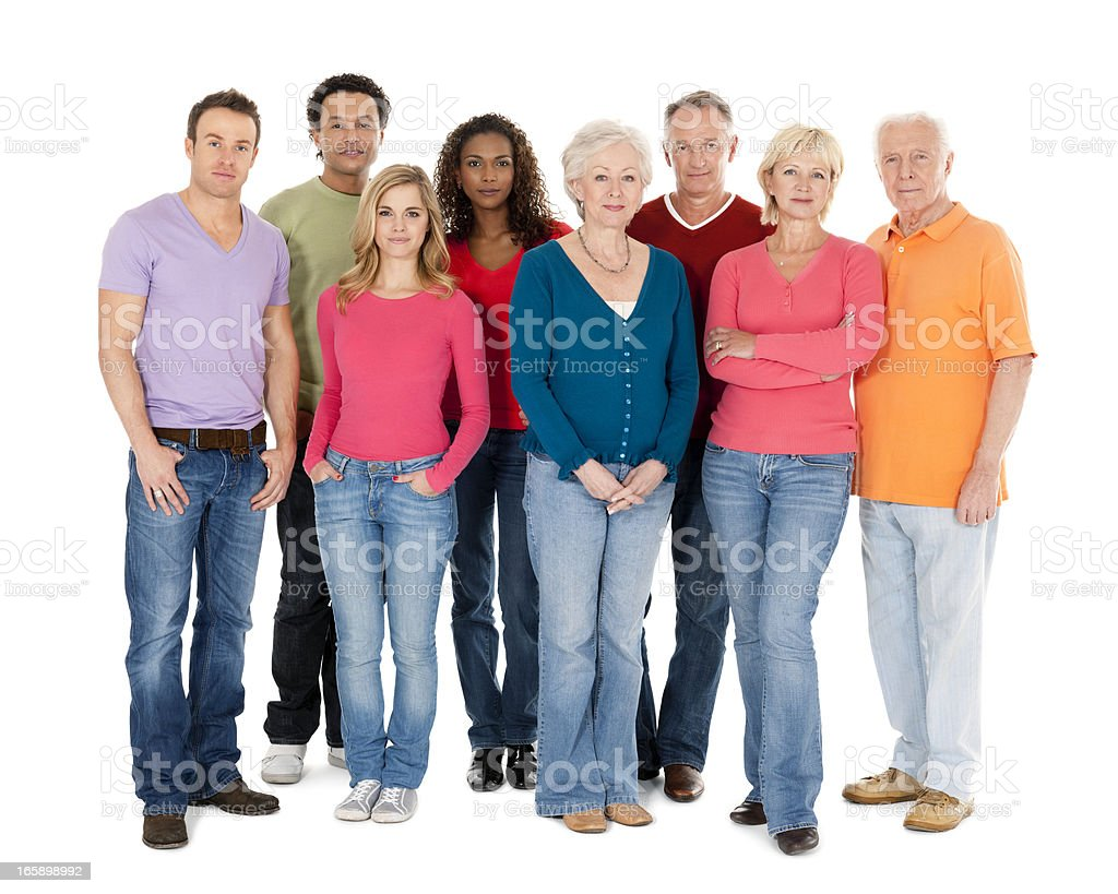 Diverse Group of People - Isolated stock photo