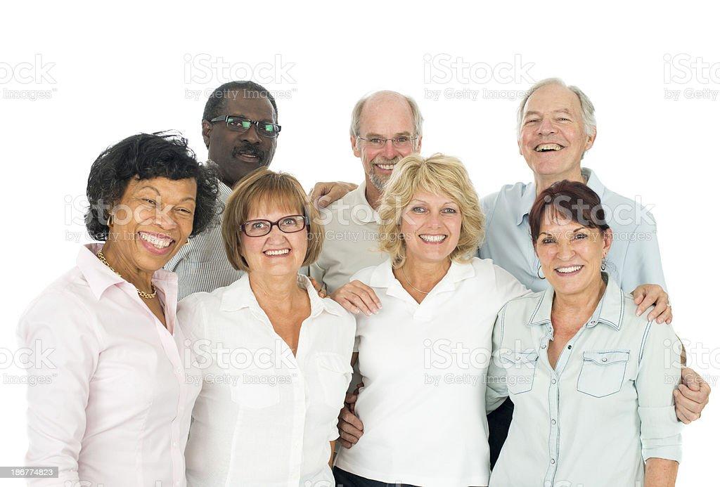 Diverse Group of Seniors royalty-free stock photo
