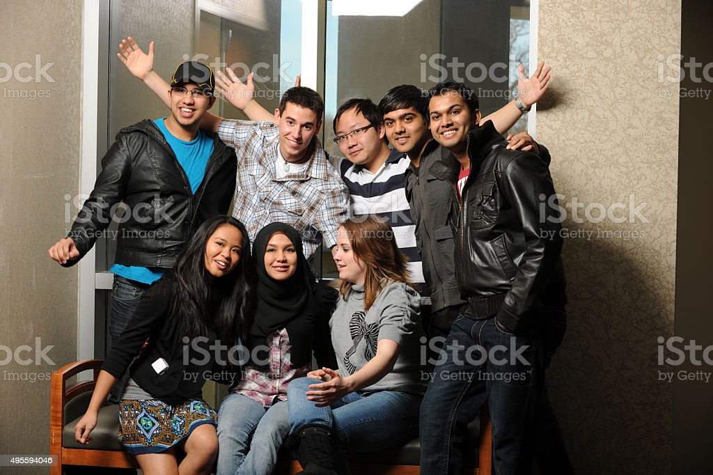 Diverse Group of Students stock photo