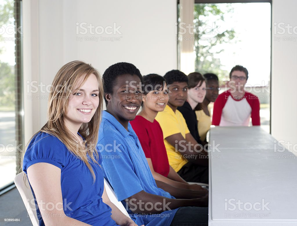 Diverse group of students royalty-free stock photo