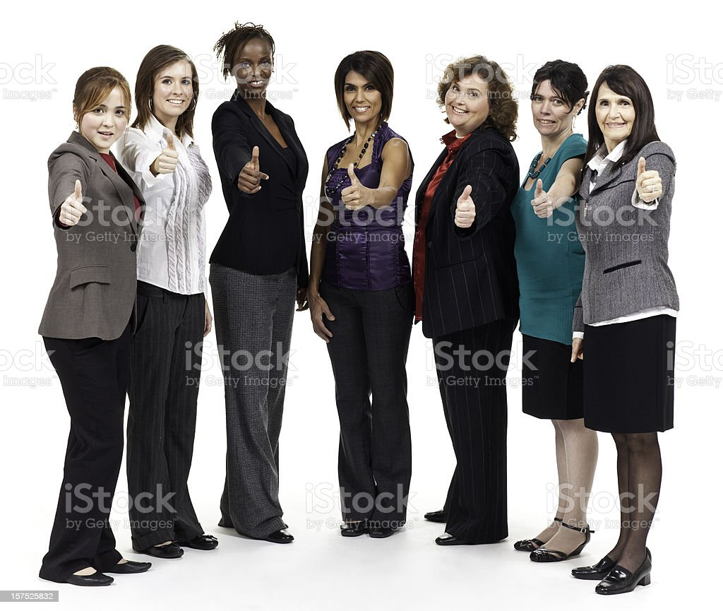 Diverse Group of Successful Business Women royalty-free stock photo