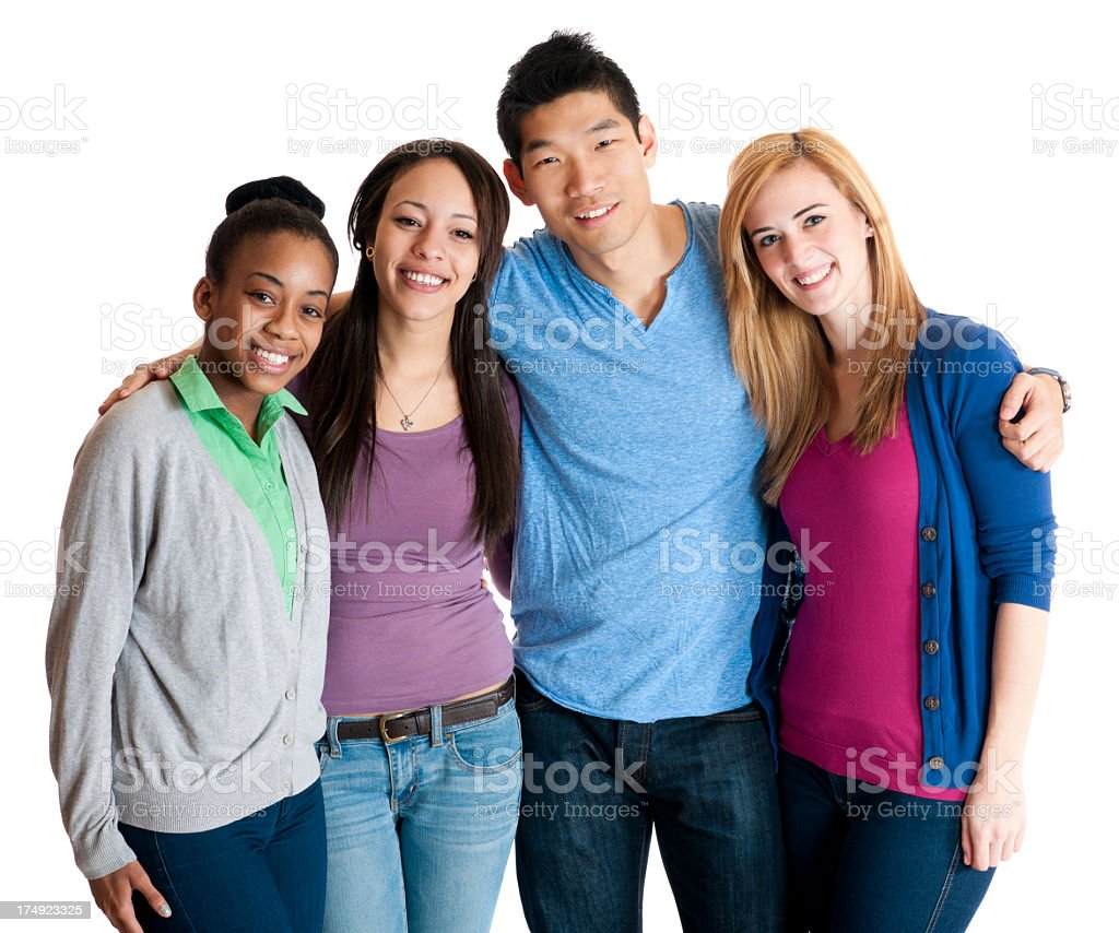 Diverse Group of University Students royalty-free stock photo