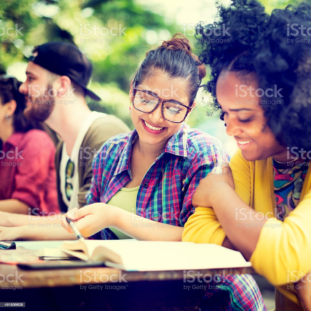Diverse Group People Working Together Concept stock photo