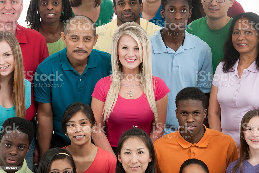 Diverse group royalty-free stock photo