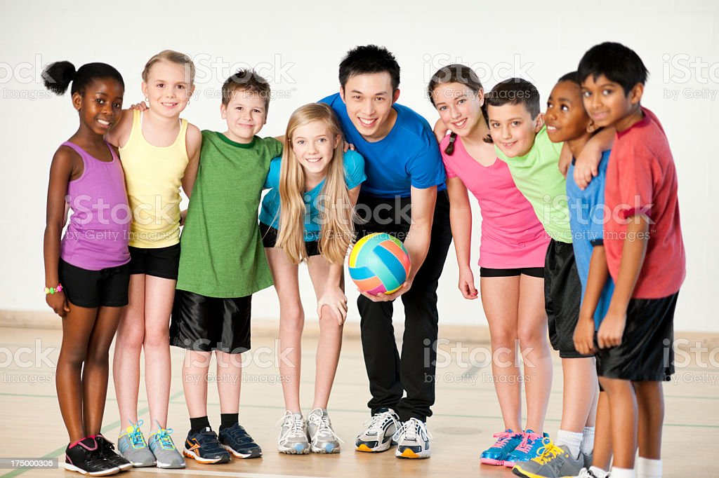 Diverse Gym Class royalty-free stock photo
