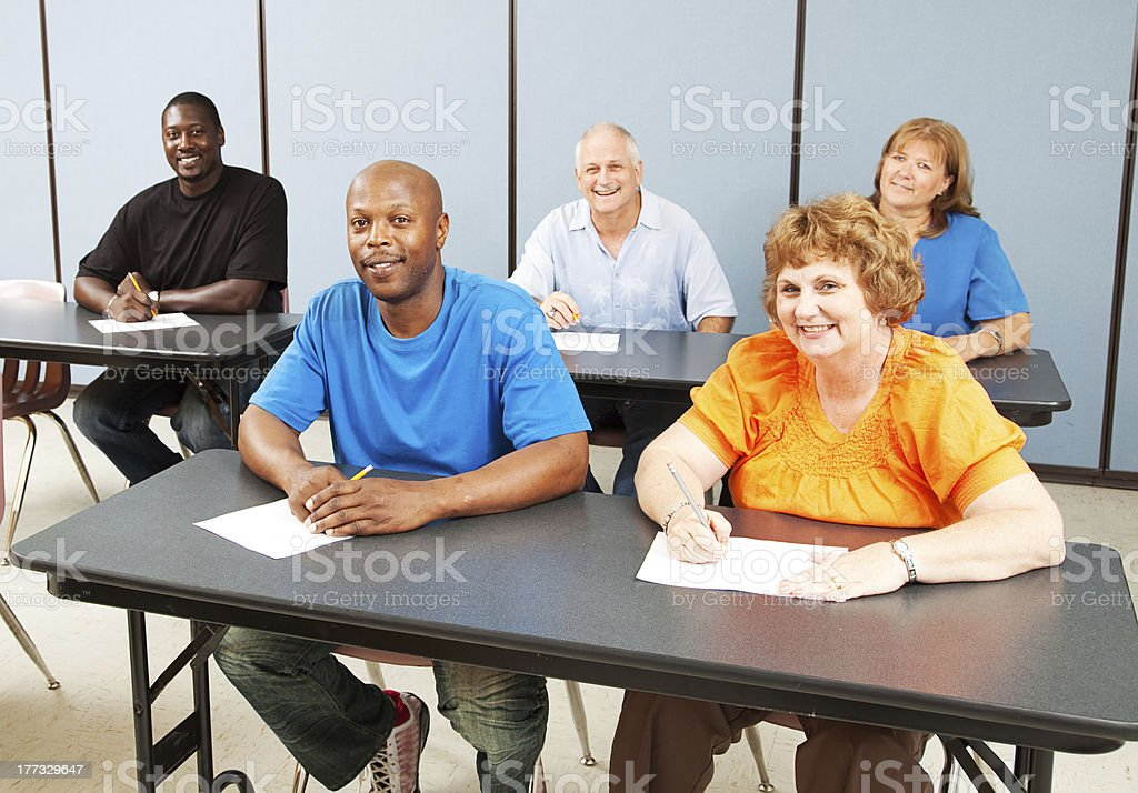 Diverse Happy Adult Education Class royalty-free stock photo