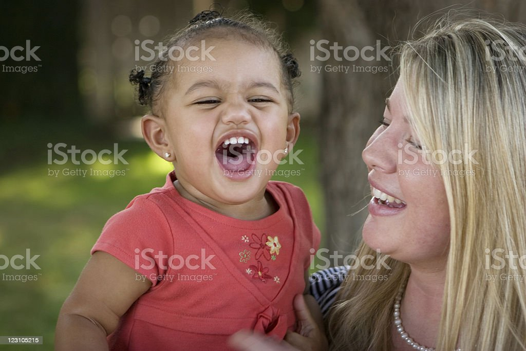 Diverse Mother and daughter royalty-free stock photo