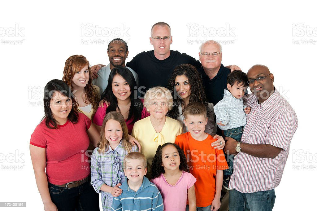 Diverse Multi Generation Group. stock photo