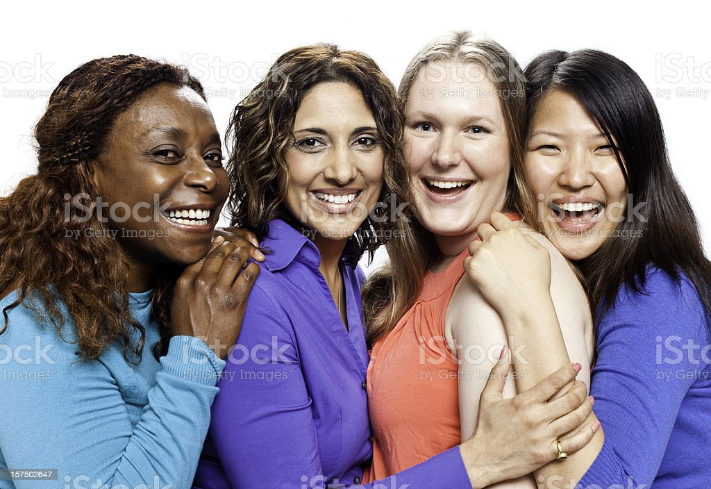 Diverse Natural Women with Beautiful Smiles royalty-free stock photo