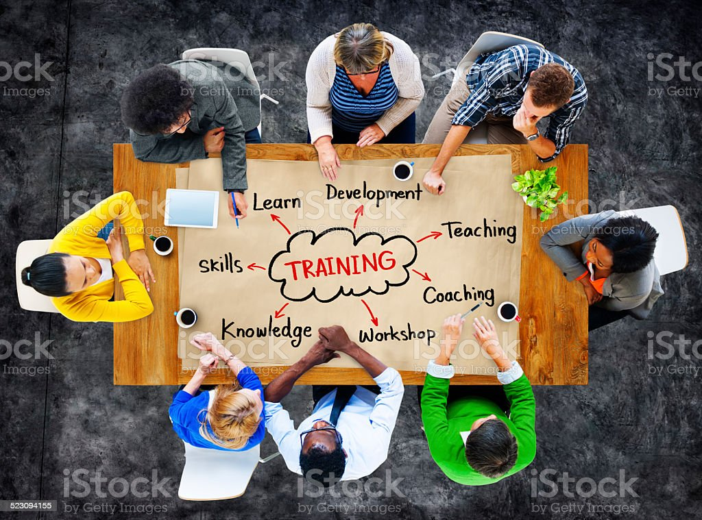 Diverse People and Training Concepts stock photo