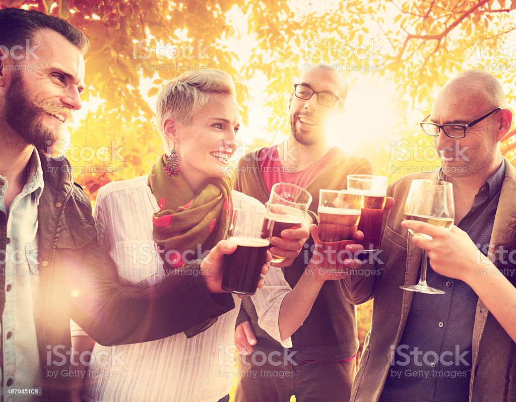 Diverse People Friends Hanging Out Concept stock photo