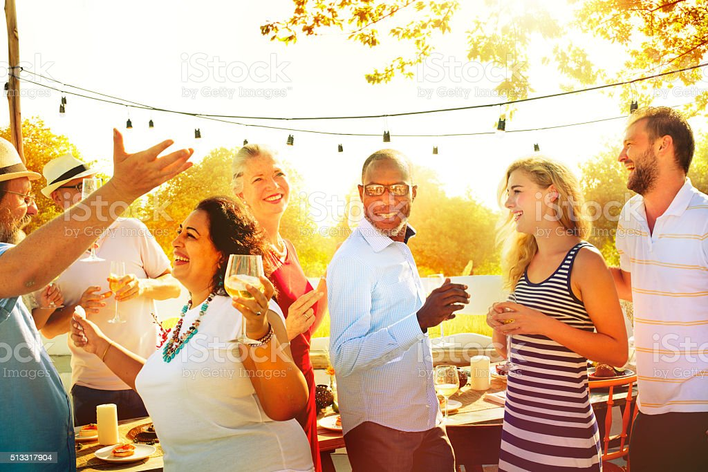Diverse People Group Party Celebration Concept stock photo