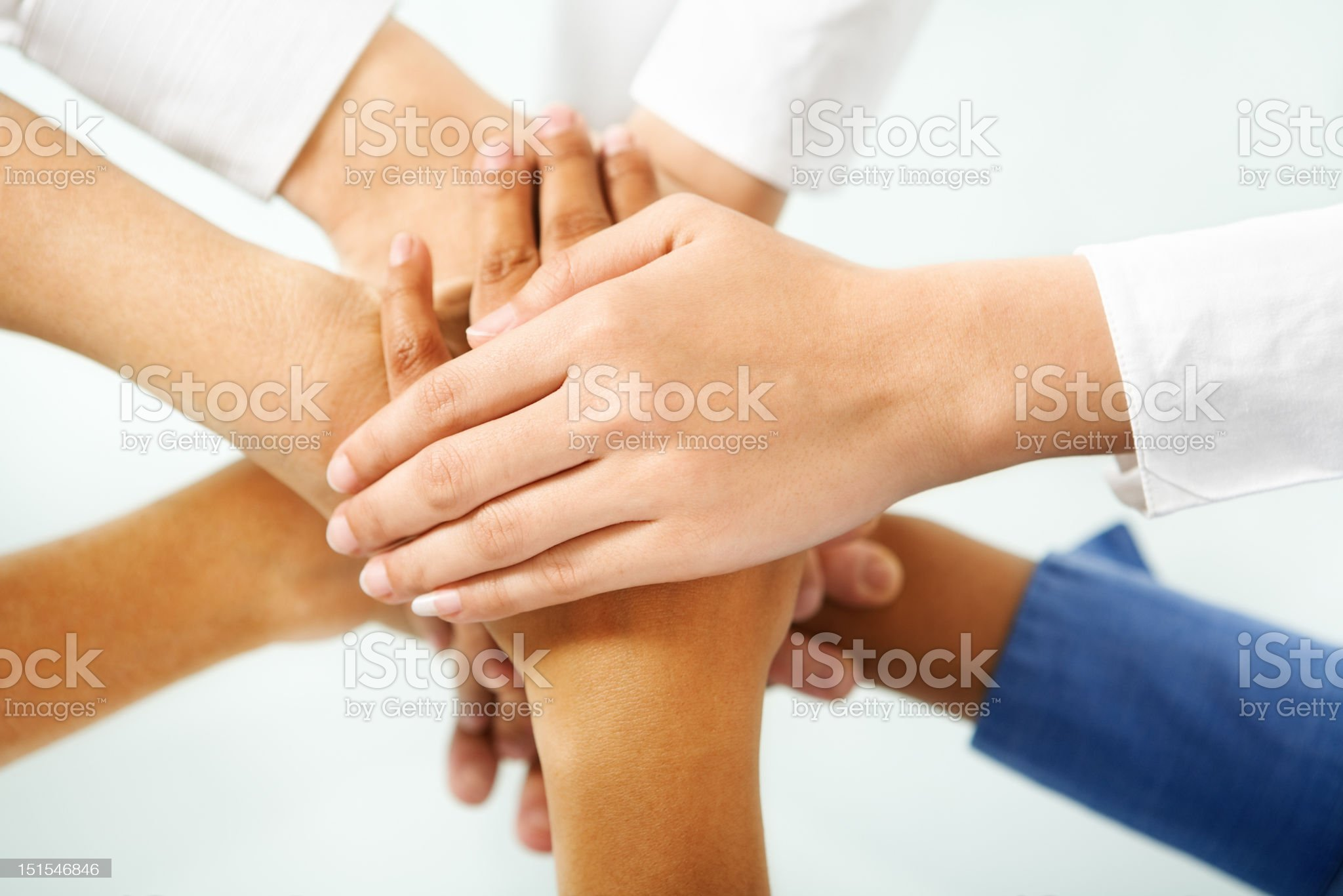 Diverse people hand in unity royalty-free stock photo