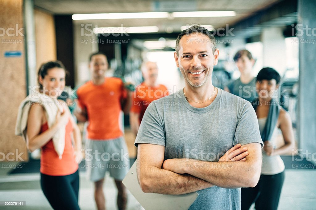 Diverse People in GYM stock photo