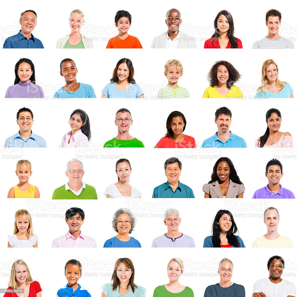 Diverse People Multi Ethnic Variation Casual Concept stock photo