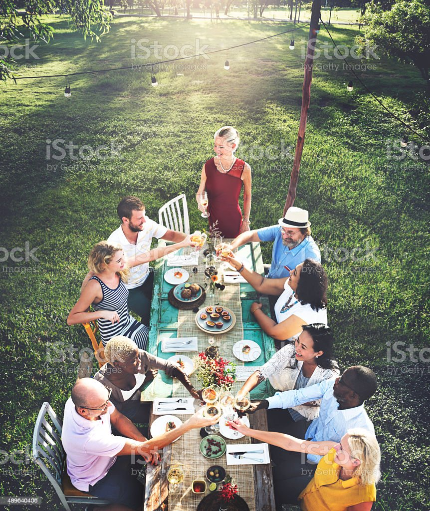 Diverse People Party Togetherness Friendship Concept stock photo