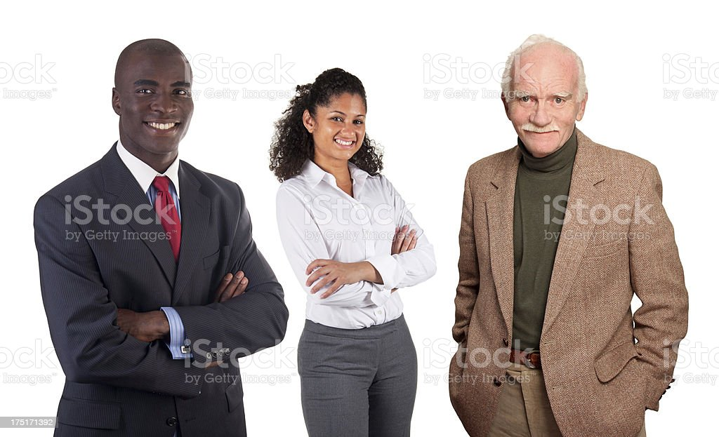 Diverse People Series - African, Latin, Caucasian Americans royalty-free stock photo