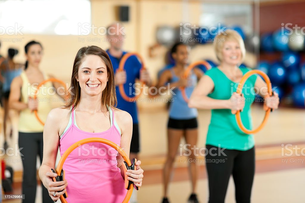 Diverse Pilates Class royalty-free stock photo