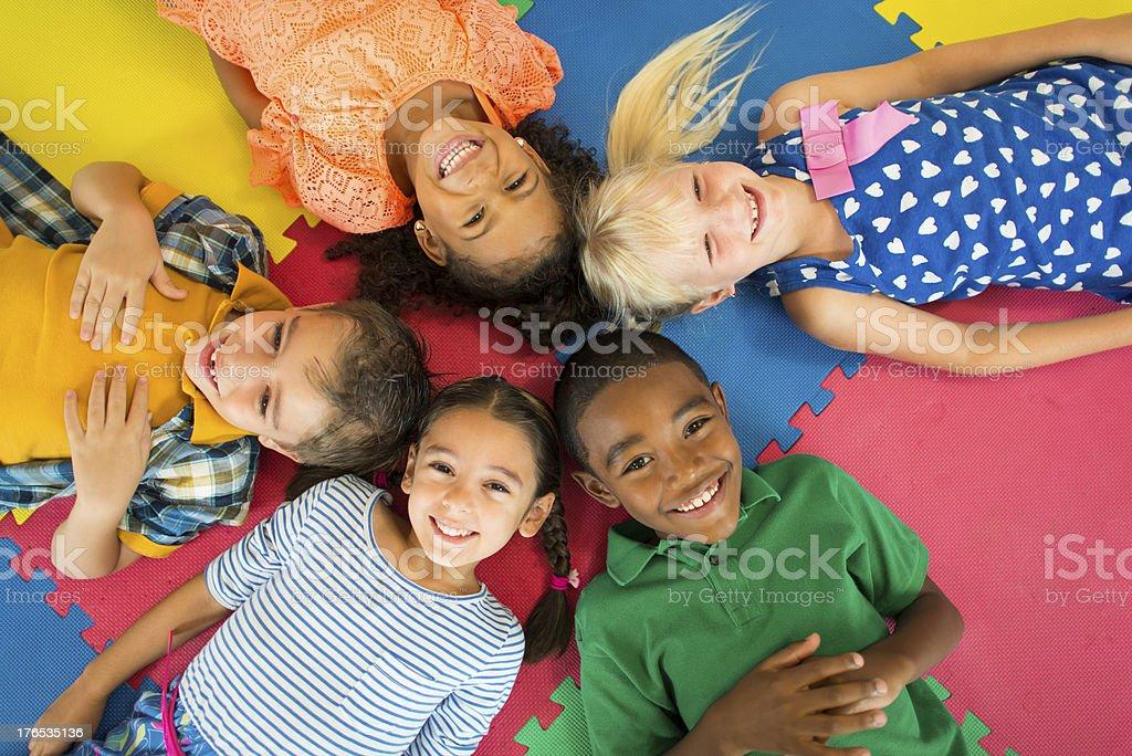 Diverse Preschool Children royalty-free stock photo