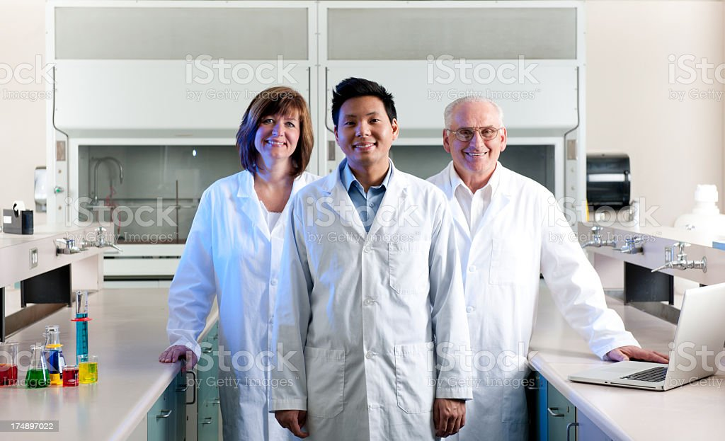 Diverse Scientists royalty-free stock photo