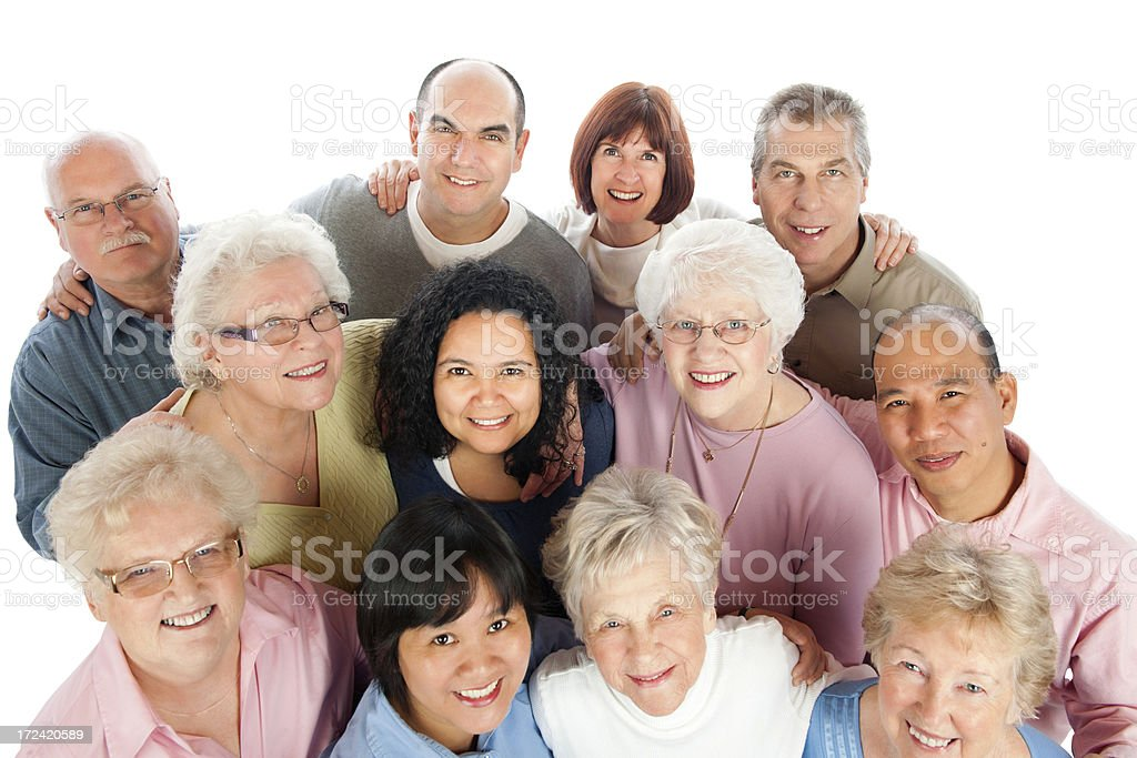 Diverse Senior Adults stock photo
