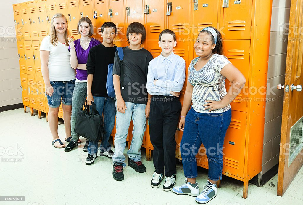 Diverse Students in School royalty-free stock photo
