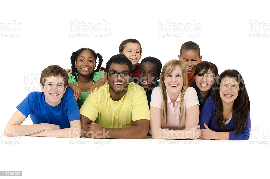 Diverse students stock photo