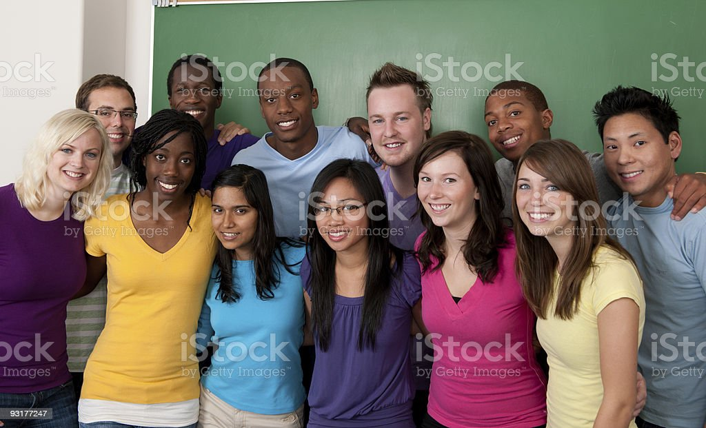 Diverse Students royalty-free stock photo