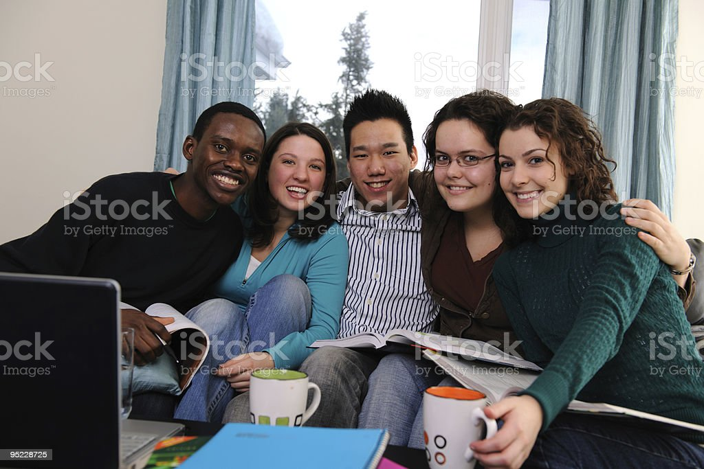 Diverse Study Group royalty-free stock photo