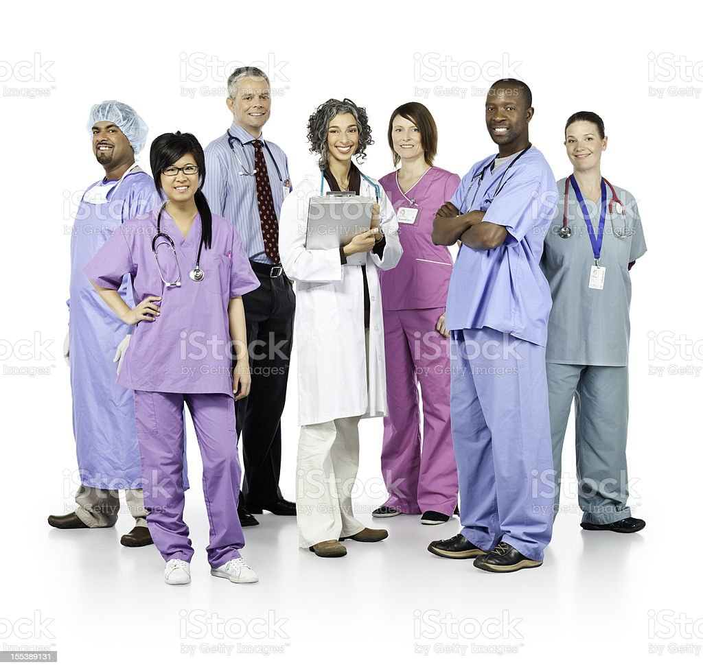 Diverse Team of Healthcare Professionals royalty-free stock photo