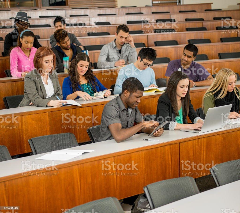 Diverse University Class royalty-free stock photo
