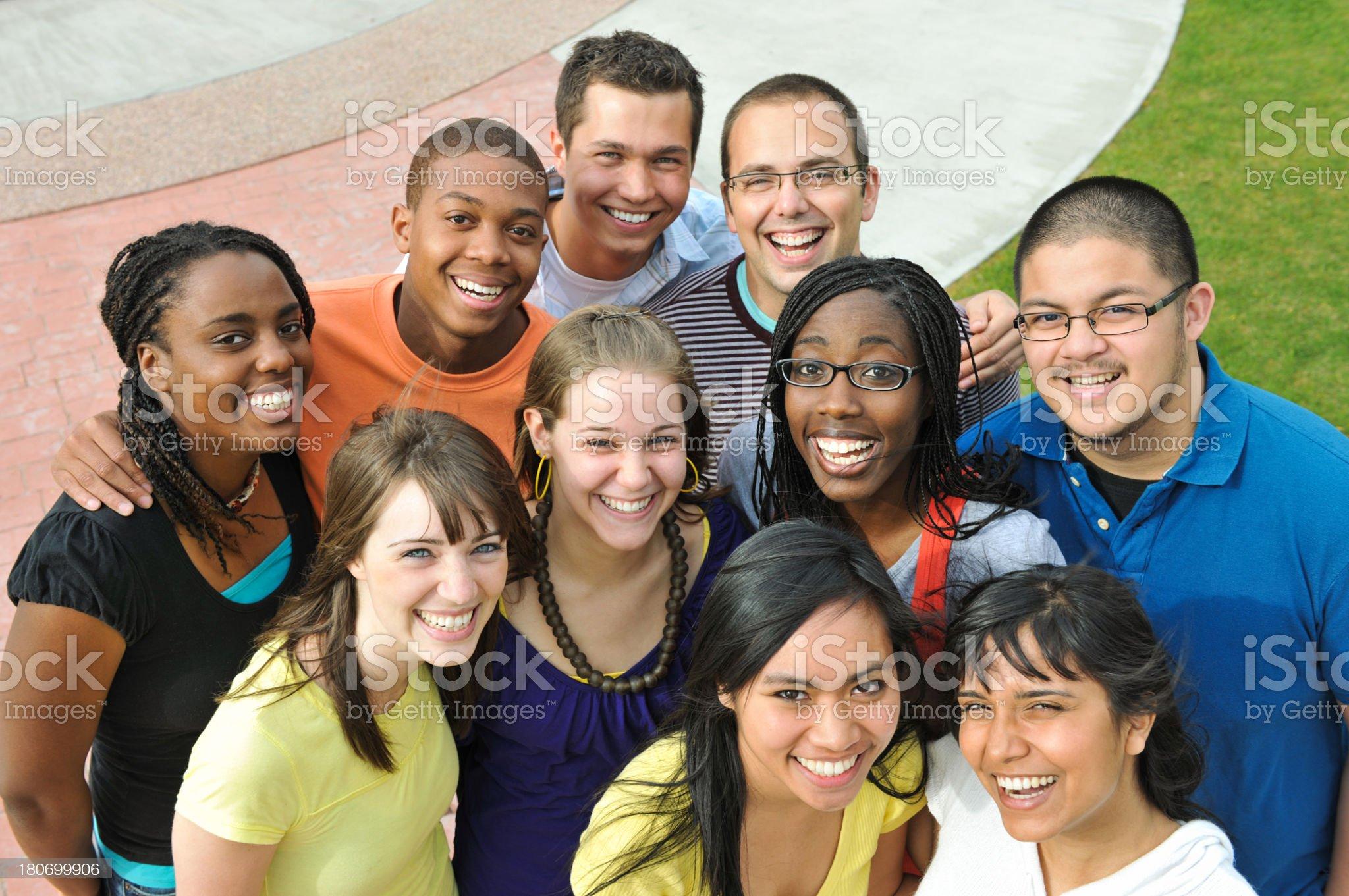 Diverse University Students royalty-free stock photo