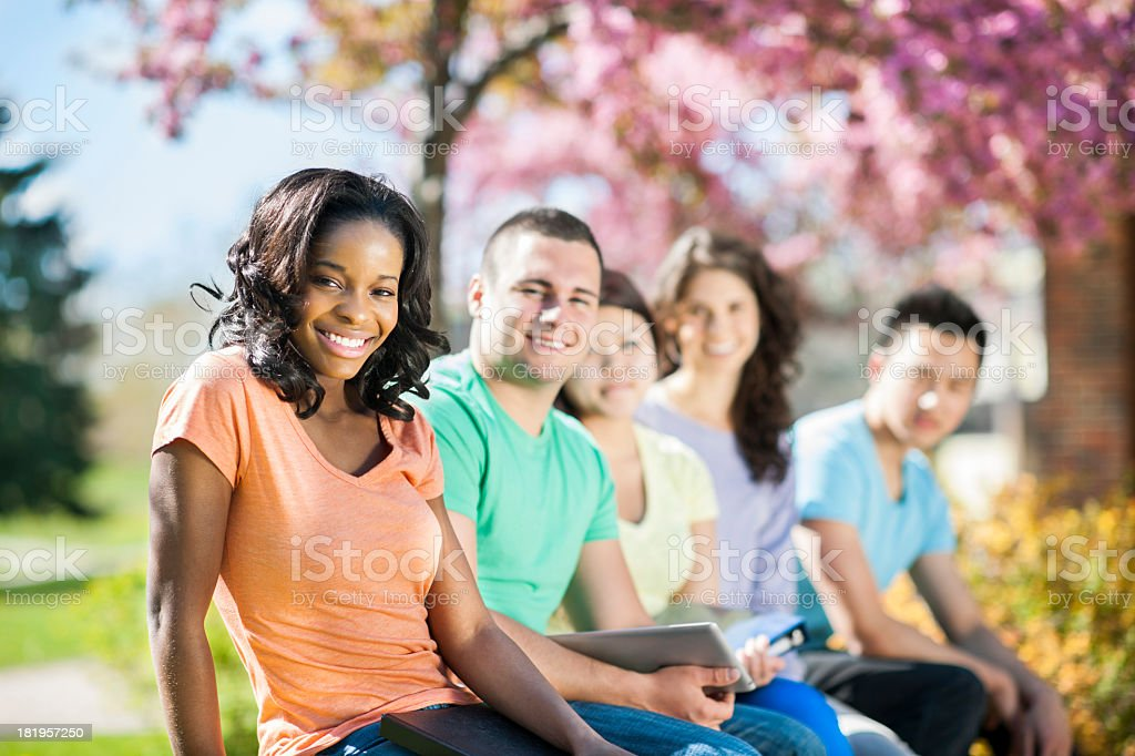 Diverse University Students royalty-free stock photo