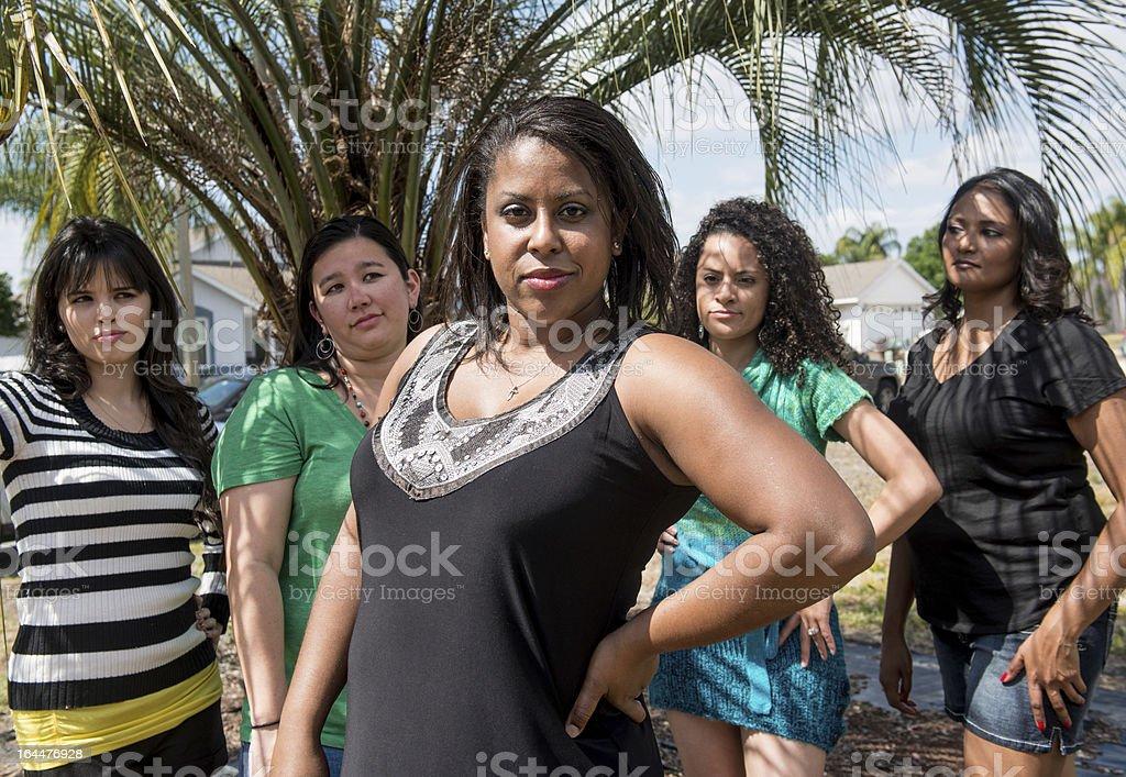 Diverse Women with Attitude royalty-free stock photo
