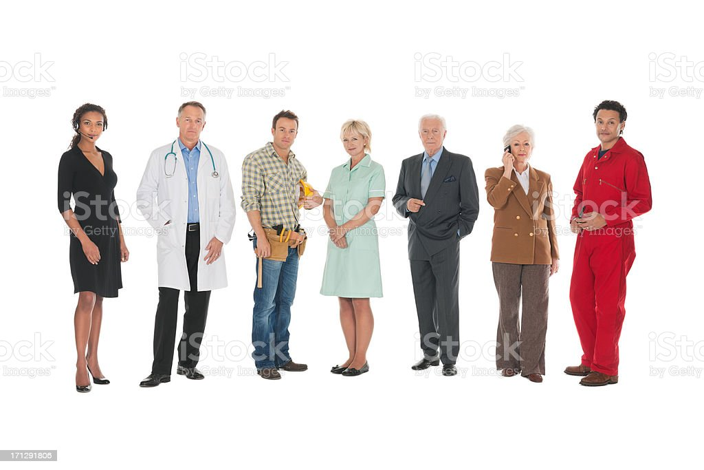 Diverse Workforce - Isolated. royalty-free stock photo