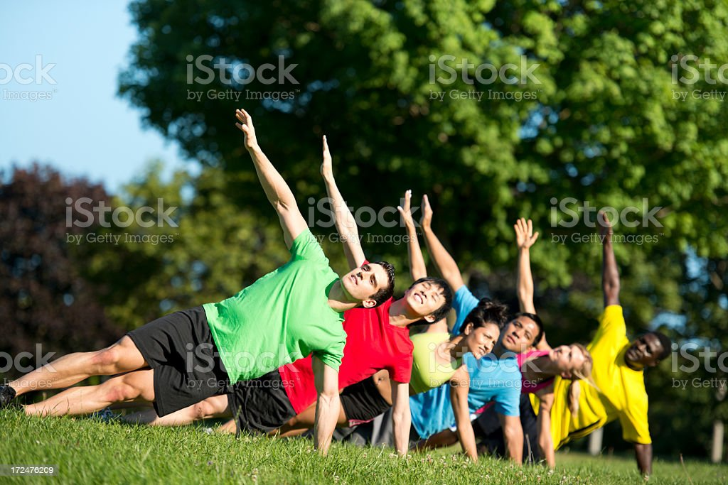 Diverse Workout Groups royalty-free stock photo