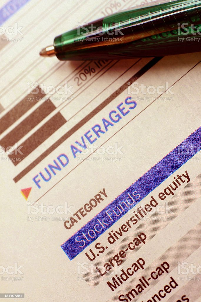 Diversification - Mutual Fund Categories stock photo