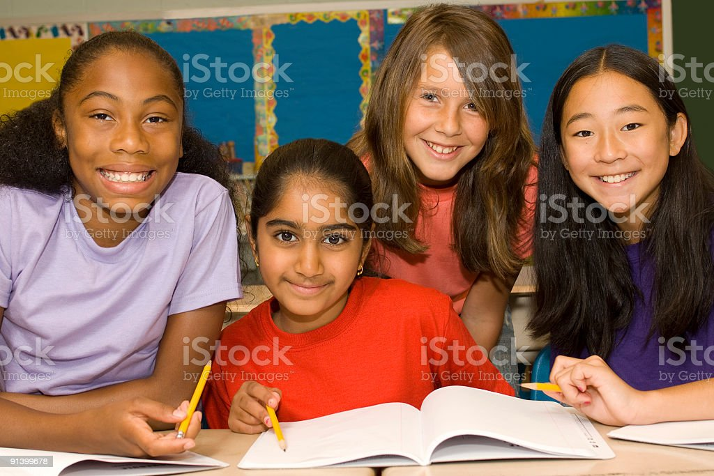 Diversified Group of Students royalty-free stock photo