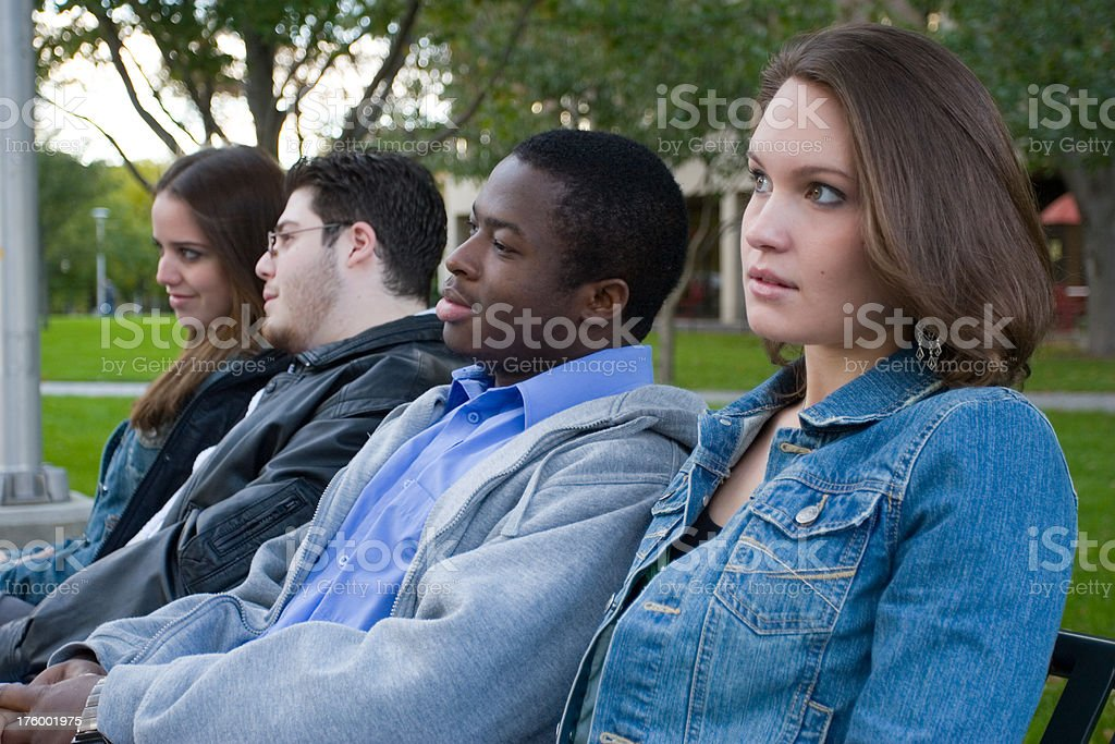 Diversified students stock photo