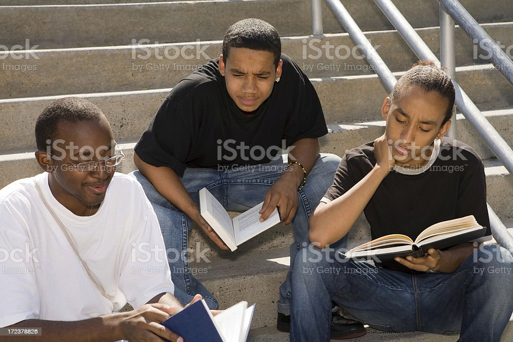 Diversified students studying royalty-free stock photo