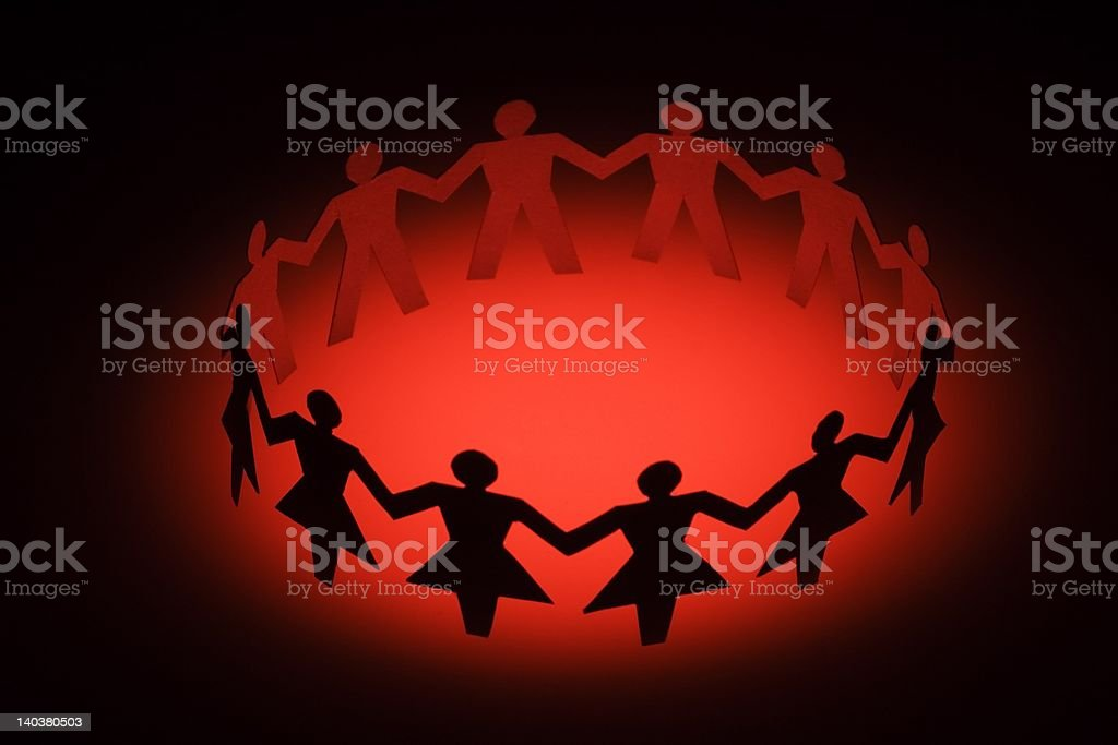 Diversify Paper Chain People royalty-free stock photo