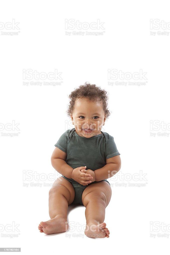 Diversity: Adorable Black Toddler Boy stock photo
