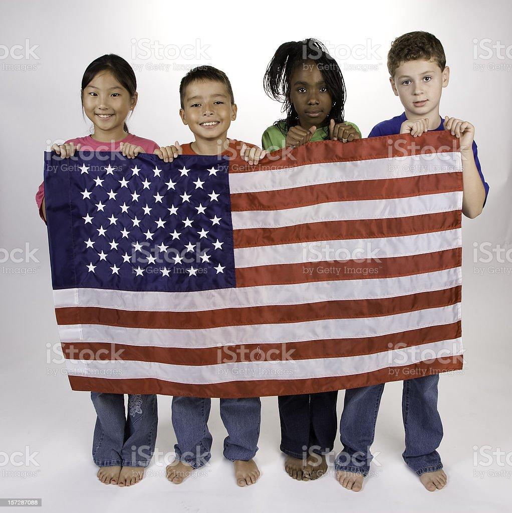 Diversity and Patriotism royalty-free stock photo