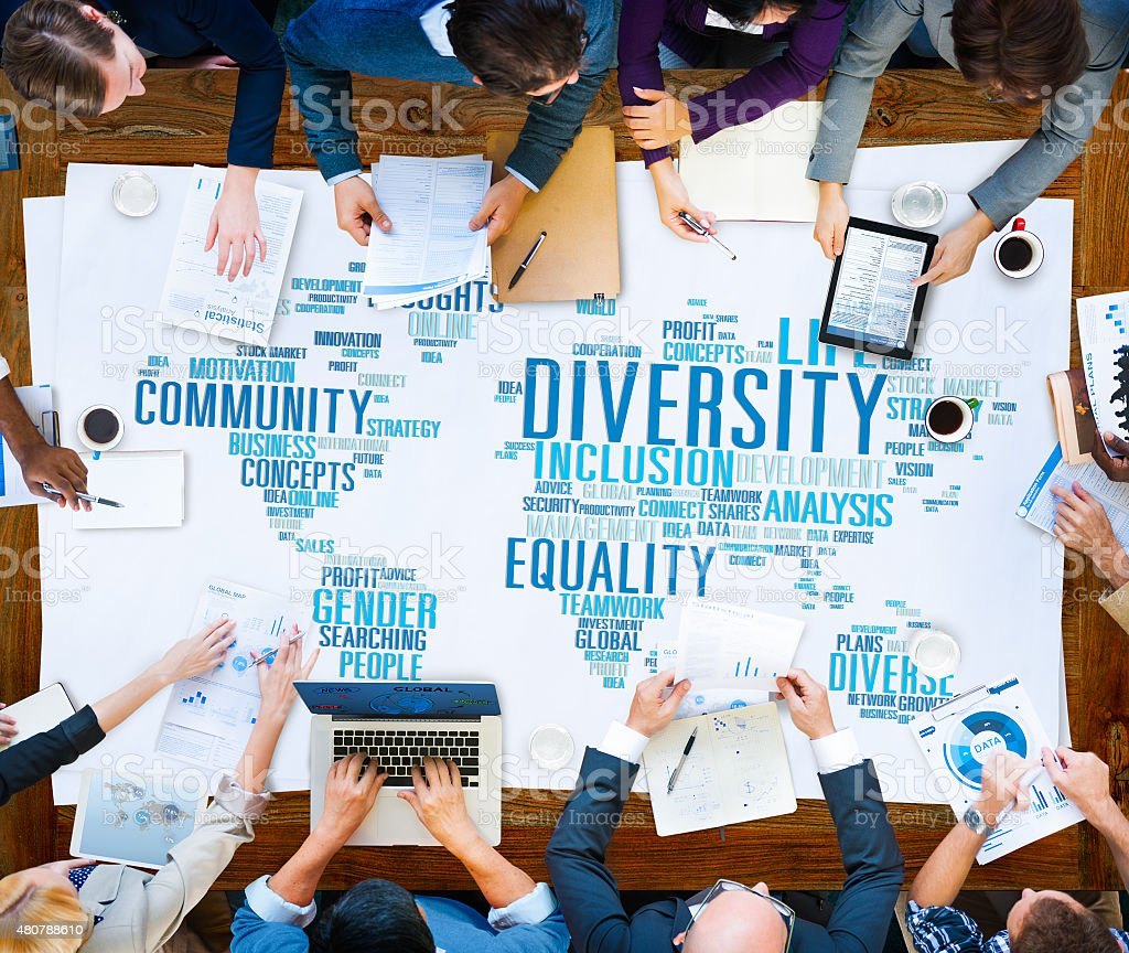 Diversity Community Meeting Business People Concept stock photo