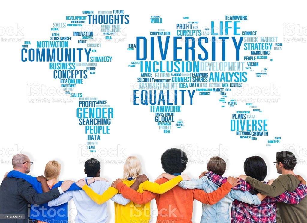 Diversity Ethnicity World Global Community Concept stock photo