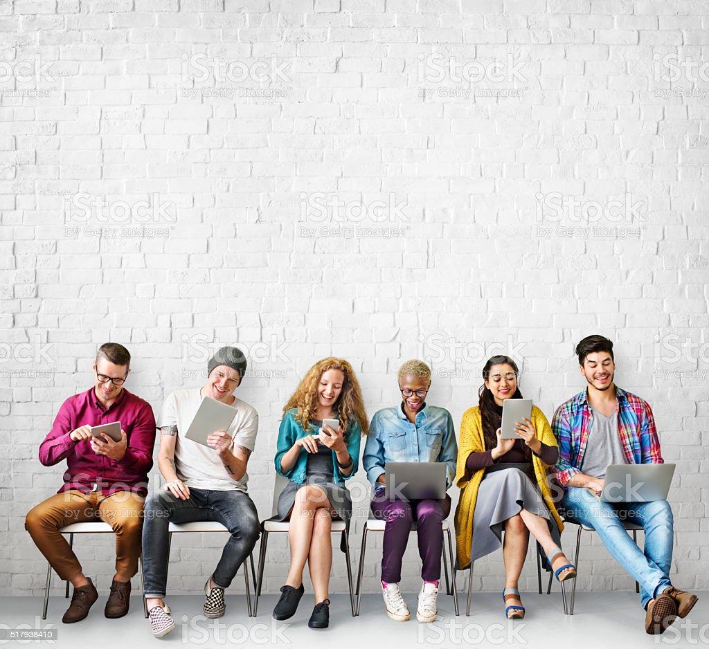 Diversity Friends Connection Global Communication Concept stock photo
